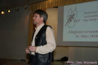 Uwe Ebermann, Präsident des BLV, eröffnet die Mitgliederversammlung - Uwe Warmuth