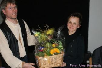Uwe Ebermann dankt Anna Zähr für ihre Arbeit im Präsidium - Uwe Warmuth