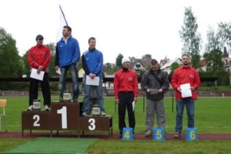 16.05.2010: Siegererhrung: Bester Deutscher in der Altersklasse hinter vier Tschechen und einem Franzosen - Elke Warmuth