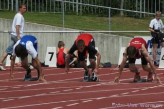 Das sieht klar nach einem Fehlstart aus. Der Sportler wurde aber nicht disqualifziert (siehe auch Bilder 43-45) - Uwe Warmuth