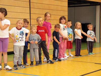 Trainingseinheit bei den Vorschulkindern