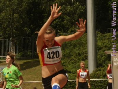 2. Landesmeisterschaft U14 in Bautzen (Weitsprung)