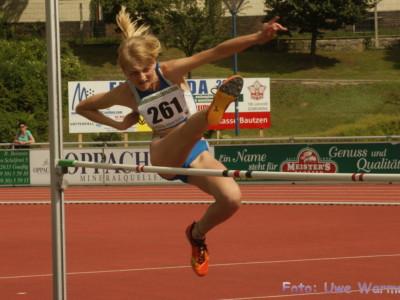 2. Landesmeisterschaft U14 in Bautzen (Hochsprung)