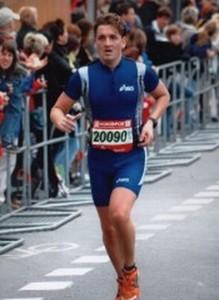 Mirko Seidel startete auch beim London-Marathon