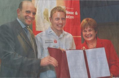Maik Petzold wird bis Ende 2010 von der Kreissparkasse unterstützt