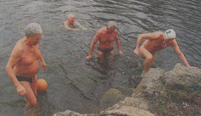 Eisbaden in Kubschütz