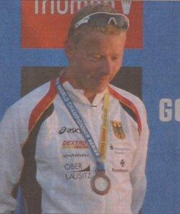 Maik Petzold holt sich die Bronzemedaille bei der WM